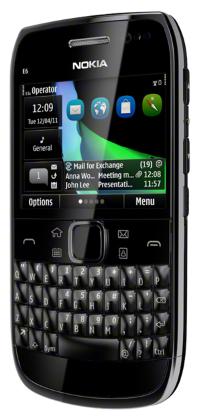 Nokia E6 front view